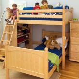 Maxtrix Kids High Loft Bed (shown with lower bed & bookcase in natural) (500)