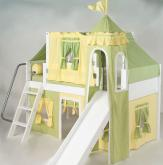 Green and Yellow Princess Castle Bed with Slide by Maxtrix Kids (370)