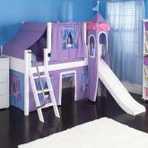Purple Princess Castle Bed with Slide by Maxtrix Kids (370)