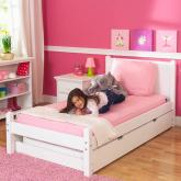 White Platform Bed by Maxtrix Kids (shown w/ trundle bed) (200)