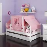 YO 23 Girls Playhouse Bed w/ Toddler Safety Rail by Maxtrix Kids (250)