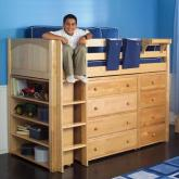 Quick View · Maxtrix Kids Mid Loft Storage Bed For Boys (natural) (634)
