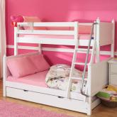 White Twin Over Full Bunk Beds by Maxtrix Kids (830)