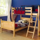 L Shaped High Loft Bed Twin Size Natural
