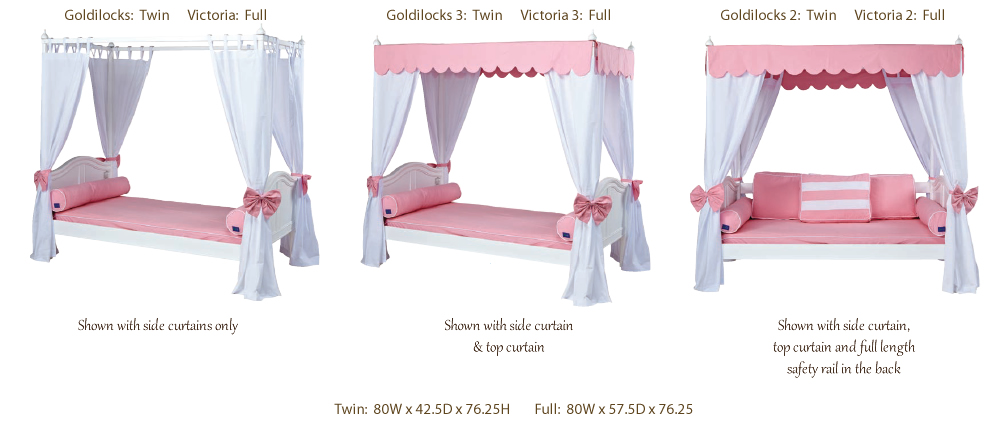 Bed Curtains canopy bed curtains for kids : Princess Canopy Bed in Pink and White by Maxtrix Kids (260.2)