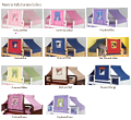 Curtain Colors for Maxtrix Kids Playhouse Loft Beds and Bunk Beds