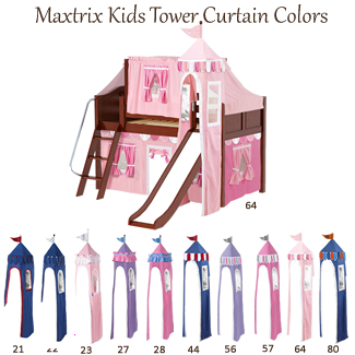 Tower Curtains by Maxtrix Kids