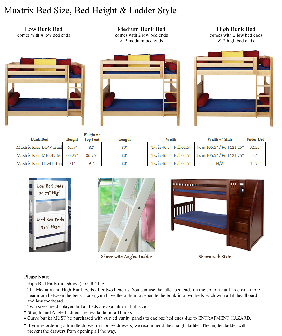 Compare Low Loft And Mid Loft Heights