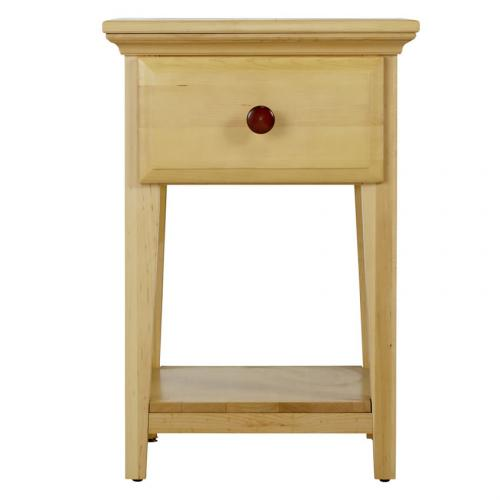 One Drawer Nightstand in Natural and Chestnut