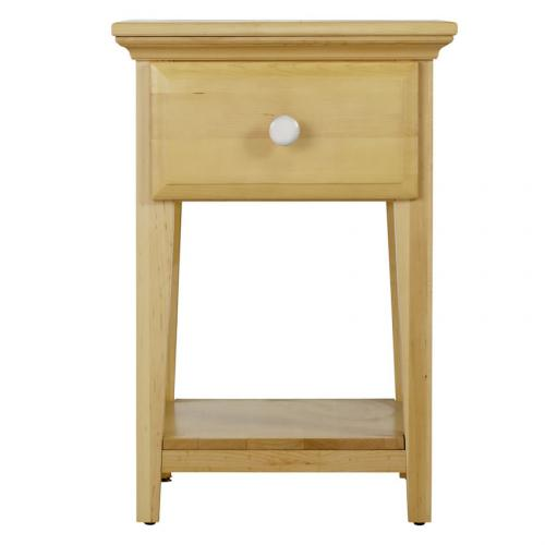 One Drawer Nightstand in Natural and White