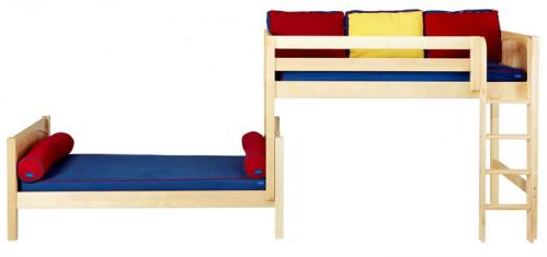 Mish Parallel Bunk Bed by Maxtrix Kids: Natural, Panel, Twin, Lg View