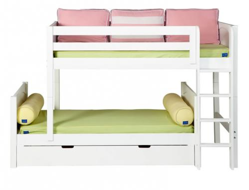 Mish Parallel Bunk Bed by Maxtrix Kids: White, Panel, Twin, 3Q Bk View 2