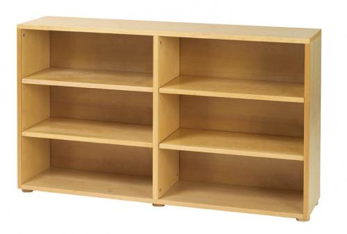 Basic 6 Shelf Bookcase by Maxtrix Kids (shown in natural) Thumbnail