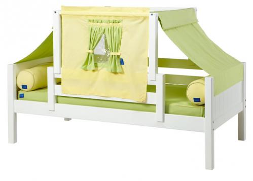YO 24 Playhouse Bed w/ Toddler Safety Rail by Maxtrix Kids (Green and Yellow) (250)