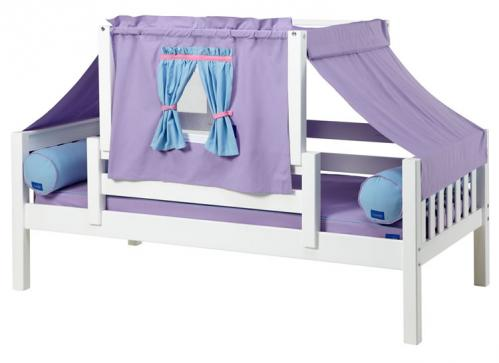 YO 27 Playhouse Bed w/ Toddler Safety Rail by Maxtrix Kids (Purple and Blue) (250)