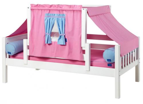 YO 28 Playhouse Bed w/ Toddler Safety Rail by Maxtrix Kids (Purple and Blue) (250)