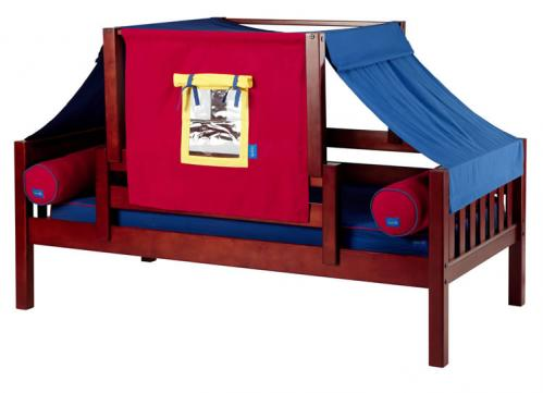 YO 29 Playhouse Bed w/ Toddler Safety Rail by Maxtrix Kids (Blue, Red and Yellow (250)