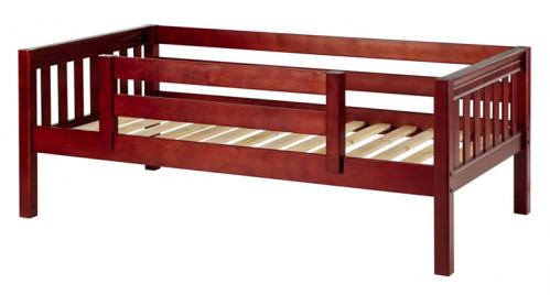 Chestnut Day Bed with Safety Rail by Maxtrix Kids (Slats) (240)