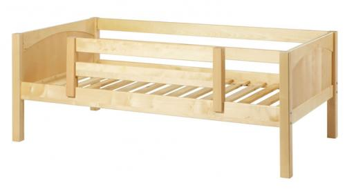 Natural Day Bed with Safety Rail by Maxtrix Kids (Panels) (240)