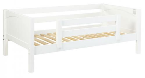 White Day Bed with Safety Rail by Maxtrix Kids (Panels) (240)