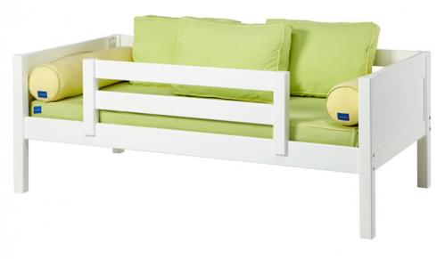 White Day Bed with Safety Rail by Maxtrix Kids (Green and Yellow) (240)