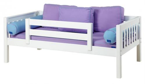 White Day Bed with Safety Rail by Maxtrix Kids (Purple and Blue) (240)