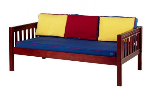 Chestnut Daybed by Maxtrix Kids w/ Red, Blue and Yellow (230)