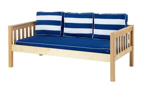 Natural Daybed by Maxtrix Kids w/ Blue and White (230)