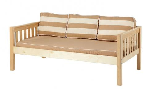 Natural Daybed by Maxtrix Kids w/ Khaki and White (230)