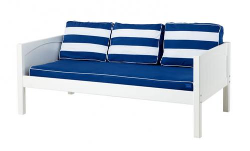 White Daybed by Maxtrix Kids w/ Blue and White (230)