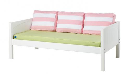 White Daybed by Maxtrix Kids w/ Pink, Green and Yellow (230)