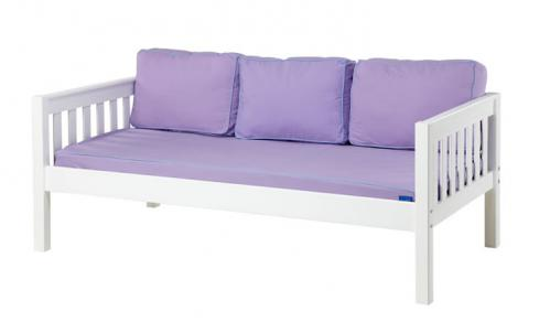 White Daybed by Maxtrix Kids w/ Purple and Blue (230)