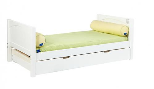 Traditional White Twin/Full Bed by Maxtrix Kids (panel) (220)