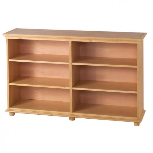 Huge 6 Shelf Bookcase in Natural by Maxtrix Kids