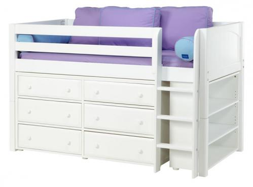 Box 2 in White w/ Panels by Maxtrix Kids (Purple and Blue) (604)