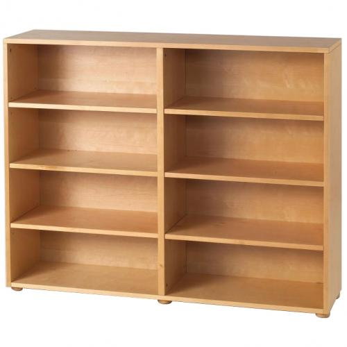 Basic 8 Shelf Bookcase by Maxtrix Kids (shown in natural) Thumbnail