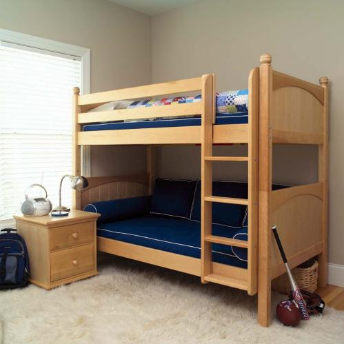 Get It Med Bunk Bed by Maxtrix Kids: Natural, Panel, Twin