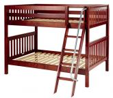 Fat Med Bunk Bed by Maxtrix Kids: Chestnut, Slats, Full