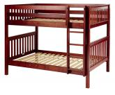 Fit Med Bunk Bed by Maxtrix Kids: Chestnut, Slats, Full