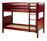 Get It Med Bunk Bed by Maxtrix Kids: Chestnut, Panel, Twin