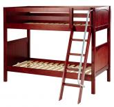 Got It Med Bunk Bed by Maxtrix Kids: Chestnut, Panel, Twin