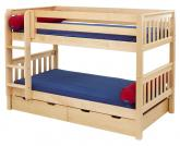 Hot Shot Low Bunk Bed by Maxtrix Kids: Natural, Slats, Twin
