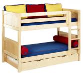 Hot Shot Low Bunk Bed by Maxtrix Kids: Natural, Panel, Twin