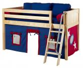 Maxtrix Blue and Red Tent Bed in Natural (Panel Bed Ends) (300.1)