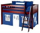Maxtrix Blue Tent Bed in Chestnut (Panel Bed Ends) (300.1)