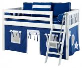 Maxtrix Blue and White Tent Bed in White (Slat Bed Ends) (300.1)