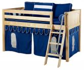 Maxtrix Blue Tent Bed in Natural (Panel Bed Ends) (300.1)
