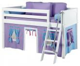 Maxtrix Purple and Blue Tent Bed in White (Panel Bed Ends) (300.1)