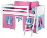 Maxtrix Hot Pink and Blue Tent Bed in White (Panel Bed Ends) (300.1)
