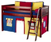 Maxtrix Blue, Red and Yellow Tent Bed in Chestnut (Slat Bed Ends) (300.1)